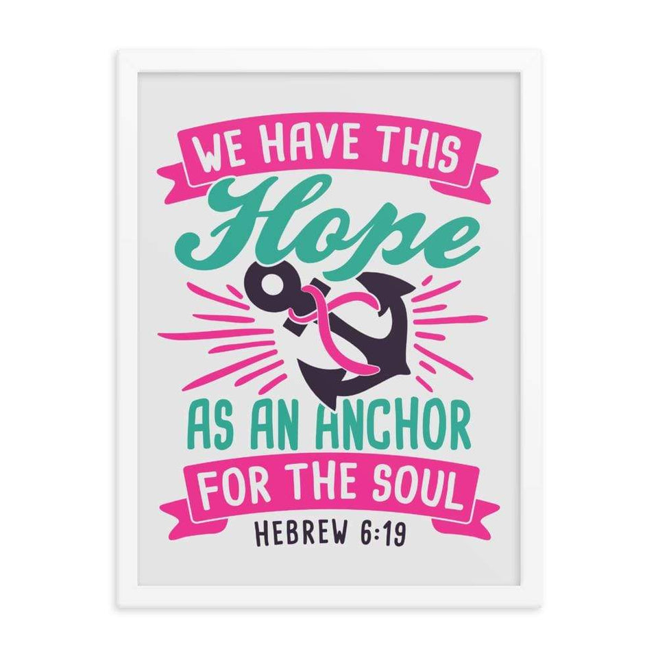 """Hope as An Anchor"" Breast Cancer Framed poster The Awareness Expo Breast Cancer"