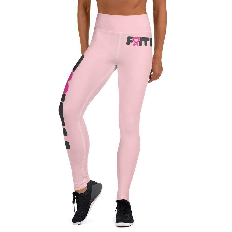 """Faith"" Pink Breast Cancer Yoga Leggings The Awareness Expo Breast Cancer"