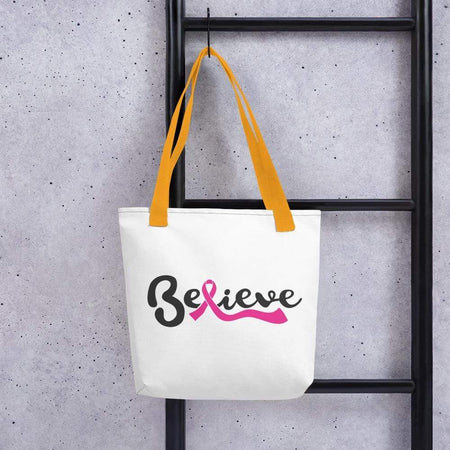 """Believe"" Breast Cancer Awareness Handbag The Awareness Expo Breast Cancer"