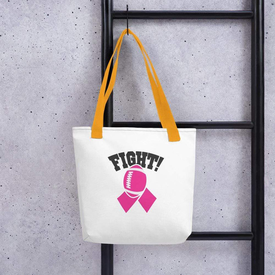 """Fight"" Football Breast Cancer Handbag The Awareness Expo Breast Cancer"