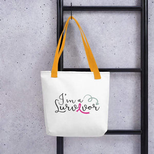 """I'm A Survivor"" Breast Cancer Handbag The Awareness Expo Breast Cancer"
