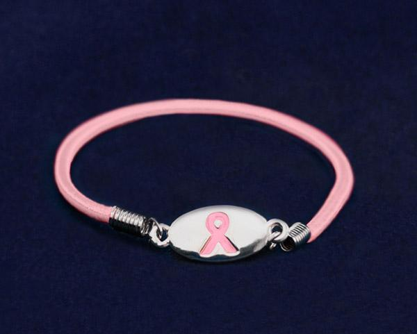 Pink Ribbon Breast Cancer Awareness Stretch Bracelet