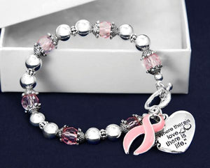 """Where There is Love..."" Breast Cancer Awareness Bracelet"