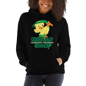 Cerebral Palsy Messed With The Wrong Chick Hoodie The Awareness Expo Cerebral Palsy