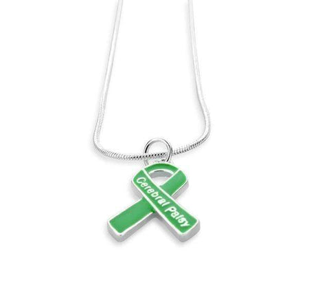 Cerebral Palsy Green Ribbon Necklace The Awareness Expo Cerebral Palsy
