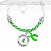C.P. Awareness Green Ribbon Partial Rope Bracelet