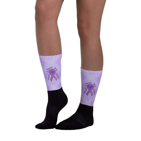 """Someone I Love Has Epilepsy"" Purple Ribbon Socks The Awareness Expo Epilepsy"
