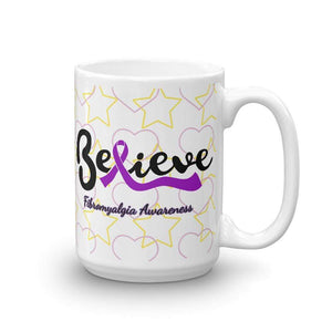 """Believe"" Fibromyalgia Awareness Mug The Awareness Expo Fibromyalgia"
