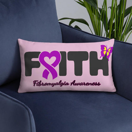 """Faith"" Fibromyalgia Awareness Pillow The Awareness Expo Fibromyalgia"