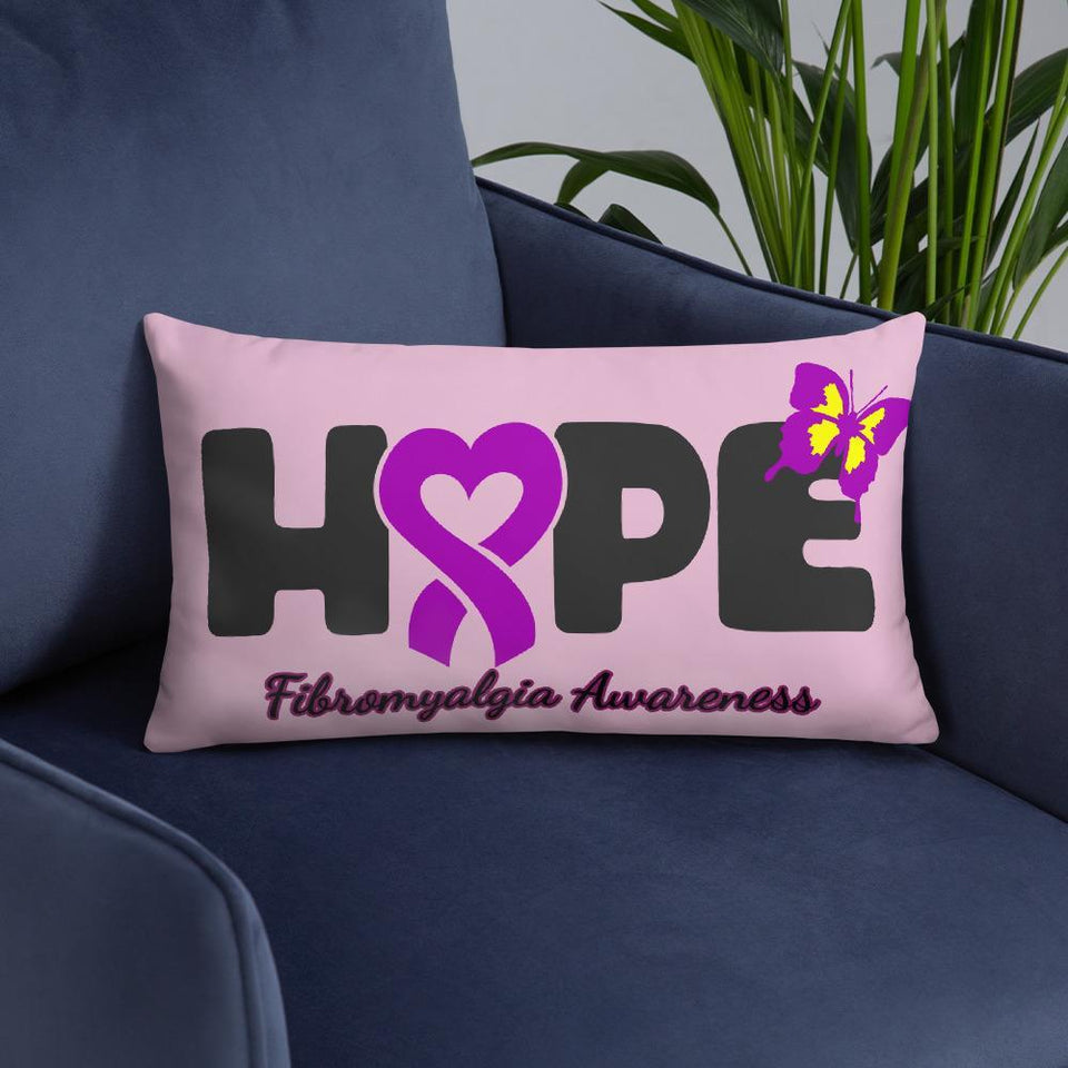 """Hope"" Fibromyalgia Awareness Pillow The Awareness Expo Fibromyalgia"