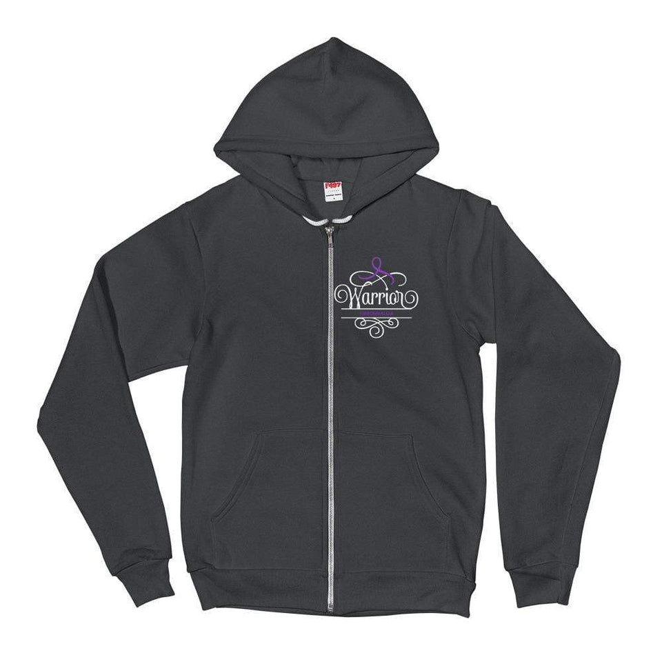 "Zip-Up ""Warrior"" Fibromyalgia Hoodie sweater The Awareness Expo Fibromyalgia"