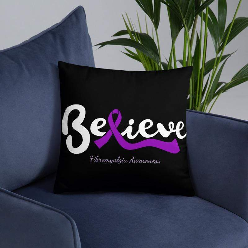 """Believe"" Fibromyalgia Awareness Pillow The Awareness Expo Fibromyalgia"