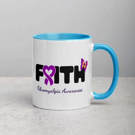 """Faith"" Fibromyalgia Awareness Colorful Mug The Awareness Expo Fibromyalgia"