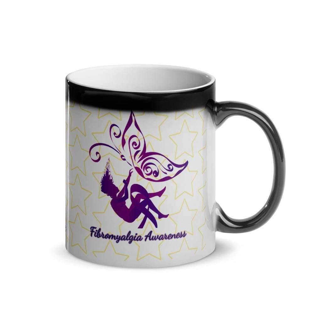 Butterfly Fibromyalgia Awareness Glossy Magic Mug The Awareness Expo Fibromyalgia