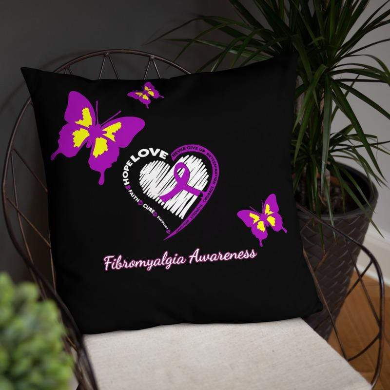 Butterfly Fibromyalgia Awareness Pillow The Awareness Expo Fibromyalgia
