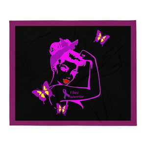 Fibro Strong Throw Blanket The Awareness Expo Fibromyalgia
