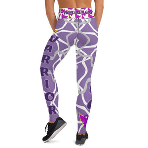 Fight Like A Girl Fibro Warrior Yoga Leggings The Awareness Expo Fibromyalgia