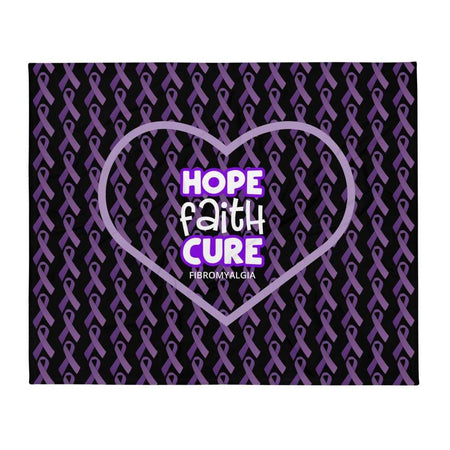 """Hope Faith Cure"" Fibromyalgia Throw Blanket The Awareness Expo Fibromyalgia"