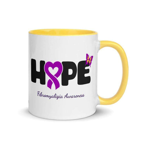 """Hope"" Fibromyalgia Awareness Colorful Mug The Awareness Expo Fibromyalgia"