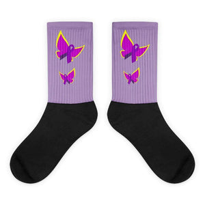 Purple Ribbon Butterfly Socks The Awareness Expo Fibromyalgia