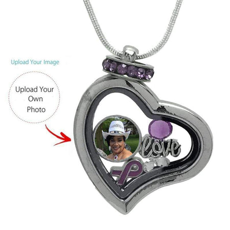 Personalized Fibromyalgia Awareness Locket Necklace The Awareness Expo Fibromyalgia