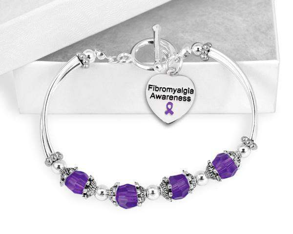 Purple Ribbon Fibromyalgia Awareness Bracelet The Awareness Expo Fibromyalgia