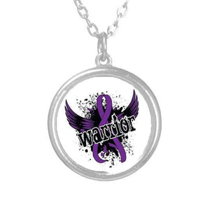 Purple Ribbon Fibromyalgia Warrior Necklace The Awareness Expo Fibromyalgia