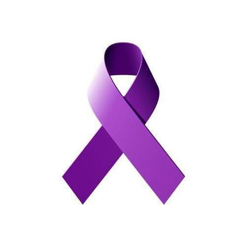 Purple Ribbon Iron On Patch The Awareness Expo Fibromyalgia