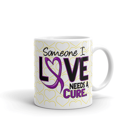 """Someone I Love Needs a Cure"" Fibromyalgia Awareness Mug The Awareness Expo Fibromyalgia"