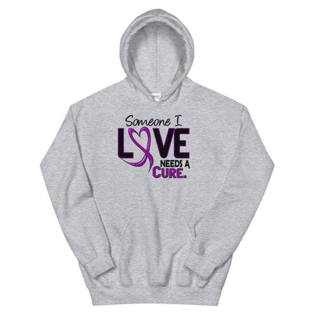 Someone I Love Needs A Cure Fibromyalgia Awareness Hoodie The Awareness Expo Fibromyalgia