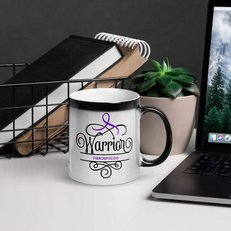 """Warrior"" Fibromyalgia Glossy Magic Mug The Awareness Expo Fibromyalgia"
