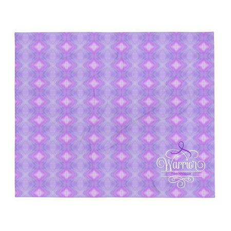"""Warrior"" Purple Fibromyalgia Throw Blanket The Awareness Expo Fibromyalgia"
