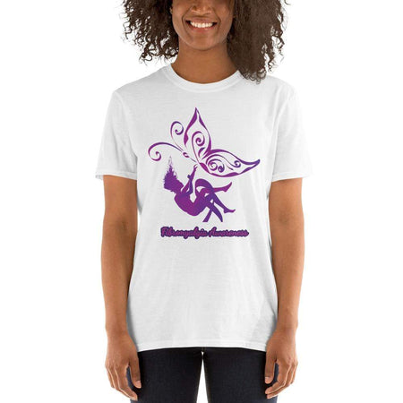Purple Butterfly Fibromyalgia Awareness T-Shirt The Awareness Expo Fibromyalgia