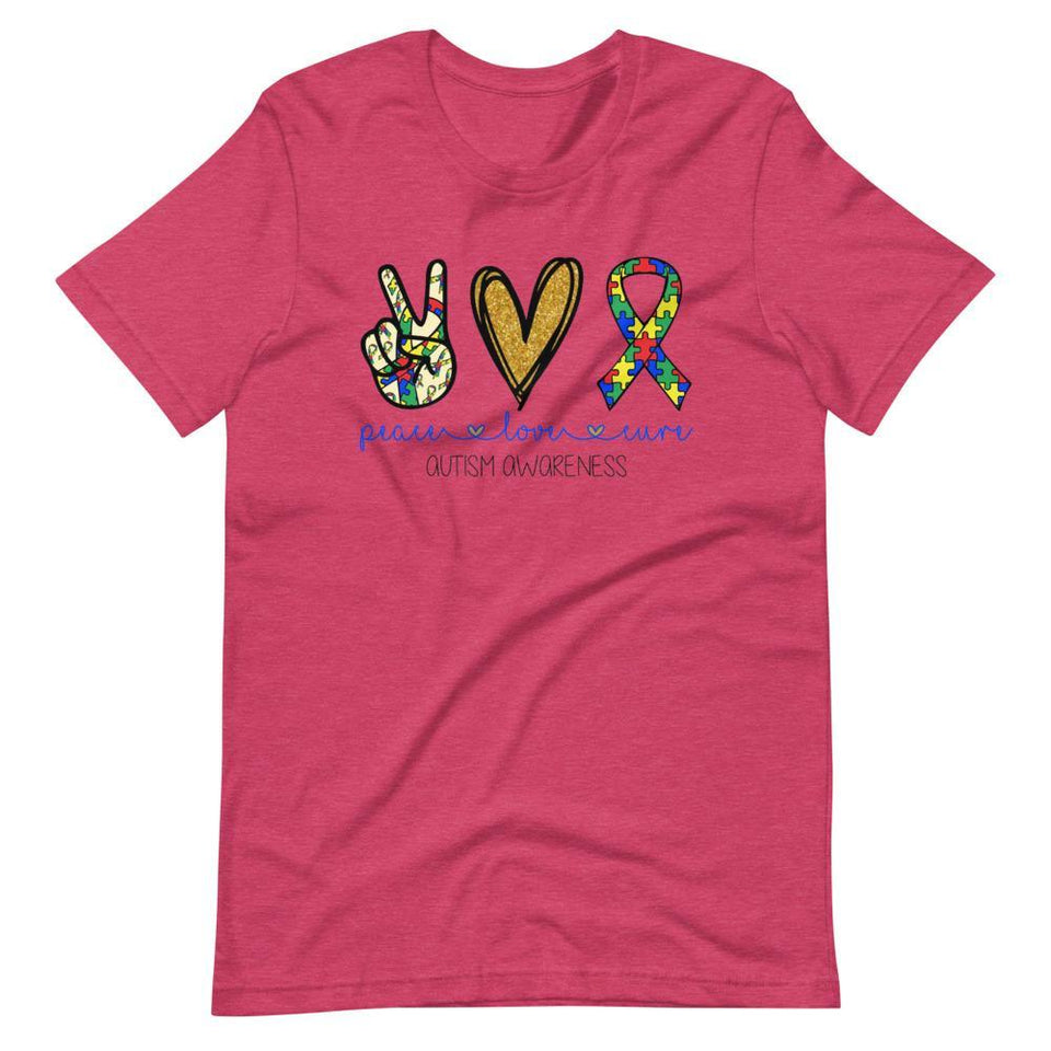 Peace Love Autism T-Shirt The Awareness Expo