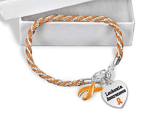 Leukemia Awareness Orange Ribbon Bracelet The Awareness Expo Leukemia