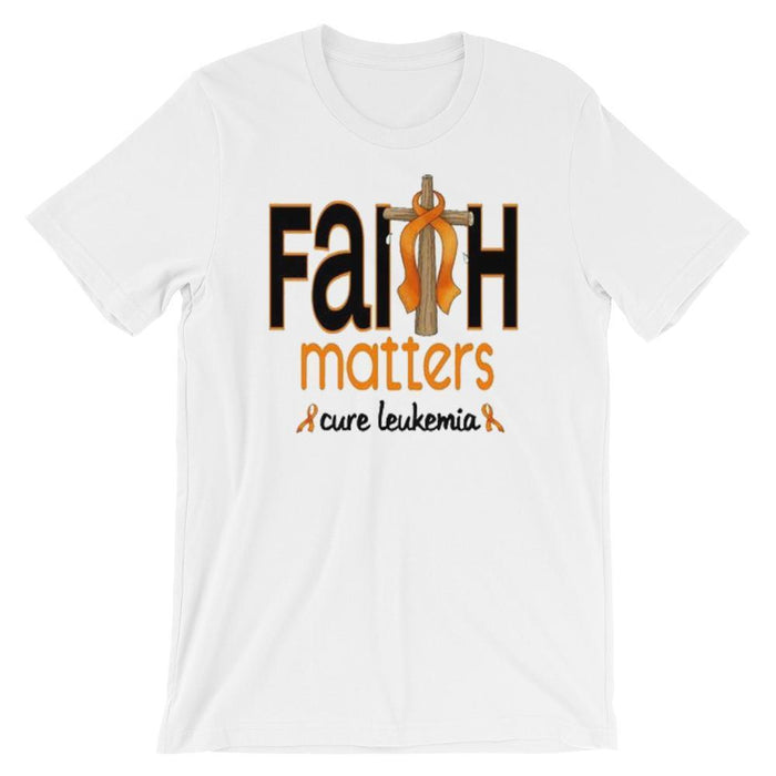 Faith Matters Cure Leukemia Orange Ribbon Shirt The Awareness Expo Leukemia
