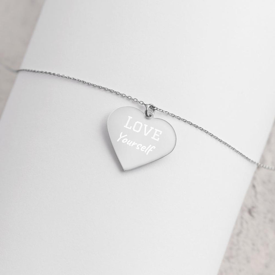 Love Yourself Silver Heart Necklace The Awareness Expo Mental Health