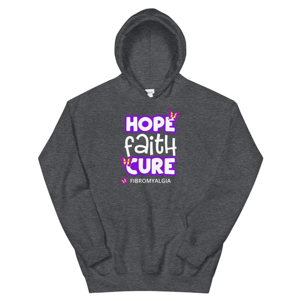 Hope Faith Cure Fibromyalgia Butterfly Hoodie