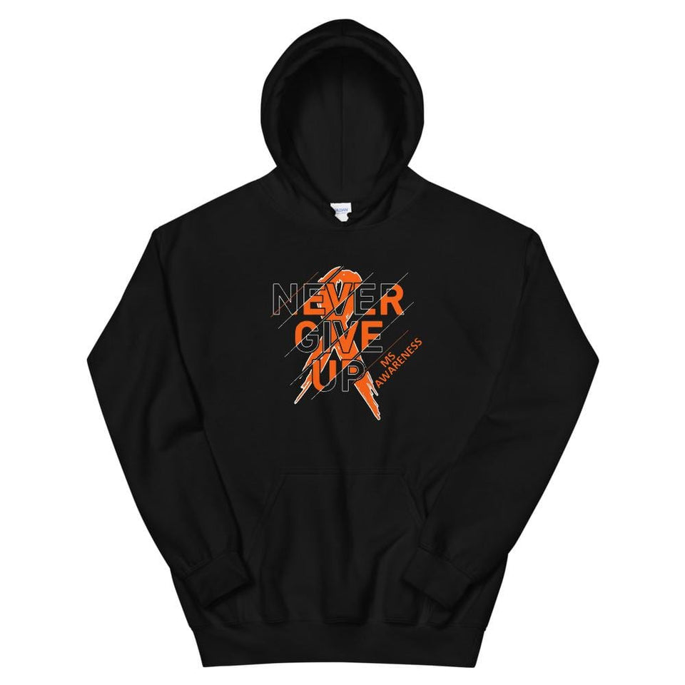 """Never Give Up"" M.S. Awareness Hoodie"