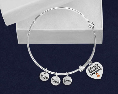 Hope Faith Love Multiple Sclerosis Awareness Bracelet The Awareness Expo Multiple Sclerosis
