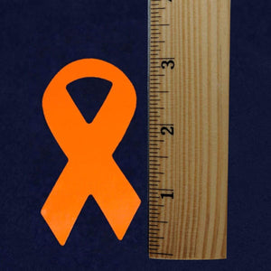 Large MS Awareness Orange Ribbon Stickers 250 The Awareness Expo Multiple Sclerosis