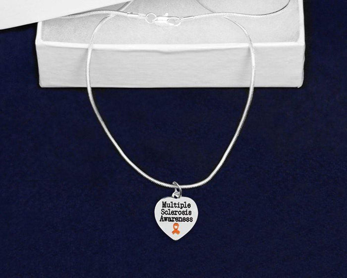 Multiple Sclerosis Awareness Heart Necklace The Awareness Expo Multiple Sclerosis