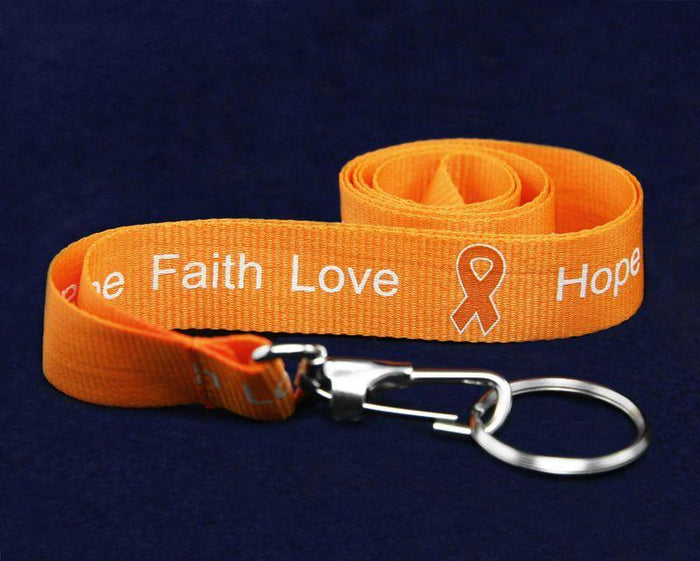 Orange Ribbon Multiple Sclerosis Lanyard The Awareness Expo Multiple Sclerosis