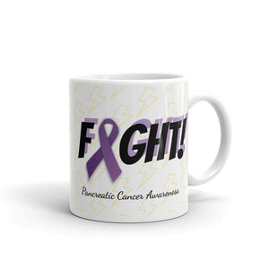 """Fight"" Pancreatic Cancer Awareness Mug The Awareness Expo Pancreatic Cancer"