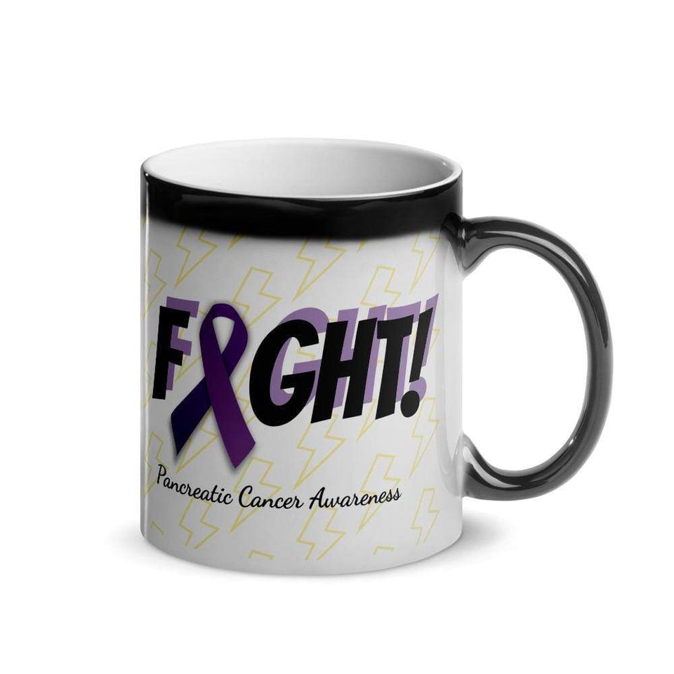 """Fight"" Pancreatic Cancer Glossy Magic Mug The Awareness Expo Pancreatic Cancer"