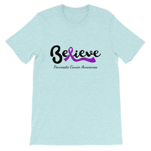 """Believe"" Pancreatic Cancer Light T-Shirts The Awareness Expo Pancreatic Cancer"