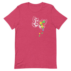 Puzzle Piece Butterfly Autism Awareness T-Shirt