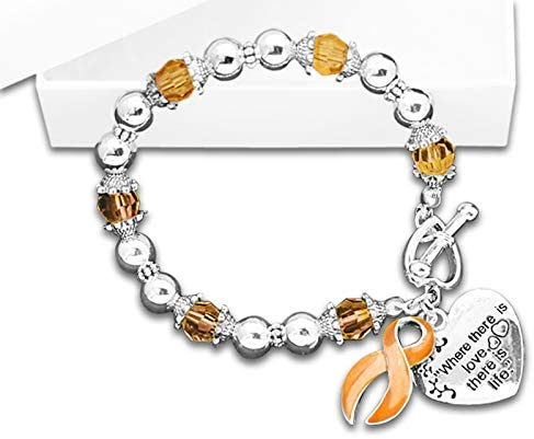 """Where There Is Love..."" M.S. Awareness Bracelet"