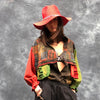 Womens canvas patchwork jacket by Neslay - Black Truffle