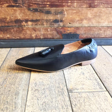 Women's loafer in black leather - Black Truffle